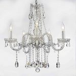 AUTHENTIC ALL CRYSTAL CHANDELIERS LIGHTING CHANDELIERS H27″ X W24″