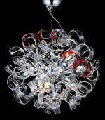 Contempo Collection Modern Chandelier for Living Room Dining Room – 6x G9 LED / HALOGEN Dimmable Bulb INCLUEDED -Ceiling Lighting Fixture Pendant Chandelier – 58″ TALL, 18″x18″ Sphere – LARGE