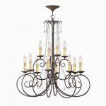 Crystorama 5212-DR-CL-SAQ, Soho Swarovski Crystal Chandelier Lighting, 12 Light, 720 Watts, Rust