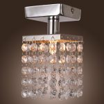 LightInTheBox Mini Semi Flush Mount in Crystal (Chrome Finish), Modern Home Ceiling Light Fixture Flush Mount, Pendant Light Chandeliers Lighting, Voltage=110-120V