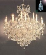 Maria Theresa Crystal Chandelier Lighting Chandeliers Dressed with High Quality Diamond Cut Crystal! H 38″ W 37″