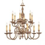 Crystorama Lighting 2612-OB Chandelier, Olde Brass