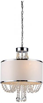 Whse of Tiffany RL7938-4 'Hera' Shaded Crystal-Detailed 4-Light Chandelier