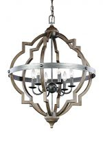 Sea Gull Lighting 5124906-846 Socorro 6-Light Hall / Foyer in Stardust / Cerused Oak