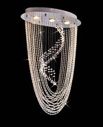 Saint Mossi Crystal Rain Drop Chandelier Modern & Contemporary Ceiling Pendant Light 3 GU10 Bulbs Required H34″ X W14″X L21″