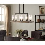 I Love Living Indoor Multi-directional Vineyard 6-Light Metal and Wood Chandelier