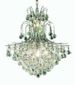 Elegant Lighting 8002D22C/RC Toureg 26-Inch High 11-Light Chandelier, Chrome Finish with Crystal (Clear) Royal Cut RC Crystal