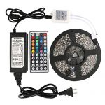 WenTop Led Strip Lights Kit Waterproof SMD 5050 16.4 Ft (5M) 300leds RGB 60leds/m with 44key Ir Controller and 12V Power Supply for Kicthen Bedroom Sitting Room and Outdoor