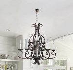 Hamilton Home Oil Rubbed Bronze Finished Multi Tier Chandelier Chandeliers Lighting – Good for Dining Room, Foyer, Entryway !