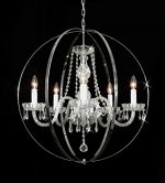 Foucault's Orb Crystal Chandelier Chandeliers Lighting H27″ W27″