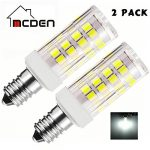 McDen E11 LED Bulb 5W Dimmable Mini Candelabra LED Bulbs 45W Equivalent Daylight White T3/T4 Base, E11 Replacement Bulb for Chandelier Landscape Lighting (Pack of 2) Brand Name: McDen