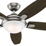 Hunter Fan 54″ Contemporary Ceiling Fan in Brushed Nickel with Energy Efficient LED Light & Remote Control, 5 Blade (Certified Refurbished)