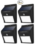 Lemontec Waterproof Wireless Solar Spotlight with Motion Sensor, Pack of 4