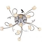 DINGGU™ Flush Mount Modern Dimmable Ceiling Chandelier Lighting with 11 Lights LED Bulbs and Remote Controller Included