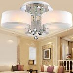 LOCO LED Modern acrylic crystal chandelier 3 lights (Chrome) , Modern Ceiling Light Fixture For, Hallway, Bedroom, Living Room