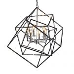 Y Decor LZ20812-6CH Modern, Transitional, Traditional 6 Light Square Modern Chandelier In Polished Chrome Finish, , Chrome, Silver