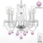 Crystal Chandelier Lighting Chandeliers W/ Candle Votives H17″ W17″ – For Indoor / Outdoor Use! Great for Outdoor Events, Hang from Trees / Gazebo / Pergola / Porch / Patio / Tent !