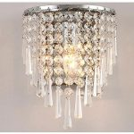 Jorunhe Modern Semi Circular Crystal Wall light Lights for Home