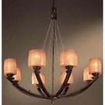 Minka Lavery ML 1188-357 Asian Themed 8 Light Up Lighting Chandelier from the Raiden Collection, Iron Oxide