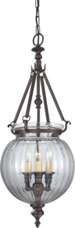 Feiss F2800/3ORB, Luminary Mini Candle 1 Tier Chandelier Lighting, 3 Light, 180 Watts, Bronze