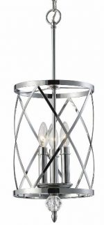 Canarm ICH172B03CH10 Vanessa 3-Light Chandelier, Chrome