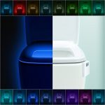 LumiLux Advanced 16-Color Motion Sensor LED Toilet Light, Internal Memory, Light Detection