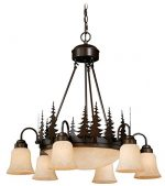 Vaxcel CH55506BBZ Yosemite 9 Light Chandelier, Burnished Bronze Finish