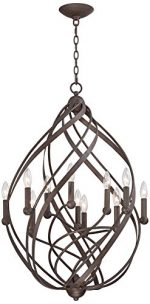 Gwinnett 23 1/2″ Wide 11-Light Twisted Bronze Pendant Light