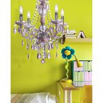 AF Lighting 8683-4H Naples Four-Light Mini Chandelier – Pink