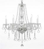 Swarovski Crystal Trimmed Chandelier! Crystal Chandelier Chandeliers Lighting H25″ X W24″