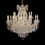 Maria Theresa Chandelier Crystal Lighting Chandeliers Lights Fixture Pendant Ceiling Lamp for Dining room, Entryway , Living room H38″ X W37″