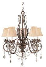 World Imports Lighting 751-62 Berkeley Square 5-Light Chandelier, Weathered Bronze