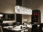 7PM L47″ x W11″ x H16″ Modern Contemporary Luxury Linear Island Dining Room Crystal Chandelier Lighting Fixture