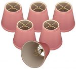 (6 Pack) Royal Designs Pink Modified Bell Chandelier Lampshade, 3 x 5 x 4.5 (CS-1005-5PNK-6)