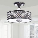 Jojospring Martina Crystal 3-Light Flush Mount Chandelier