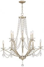 Clemence 12-Light 32″ Wide Gold Scavo Chandelier