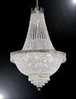 French Empire Crystal Chandelier Lighting – Great for the Dining Room, Foyer, Living Room! H24″ X W24″