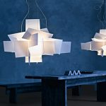 "White Big Bang Chandelier Lamp Lighting Pendant Dia 35.4"" Large Size"