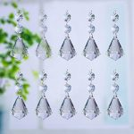 Glass Crystal Pendants For Chandeliers Crystal Glass Chandelier Lamp Lighting Part Drops Pendants Prisms Hanging Galss Pendant Home/House Decor Pyramid Shaped Pack of 10