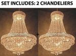 SET OF 2 – French Empire Crystal Chandelier Chandeliers Lighting H26″ X W23″