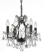 Crystorama Lighting 4454-VZ-CL-MWP Chandelier with Clear Crystals, Vibrant Bronze