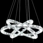 Siljoy Three Rings (11.8 – 19.7 – 27.6 Inches) K9 Crystal Ceiling Light Fixture LED Lighting